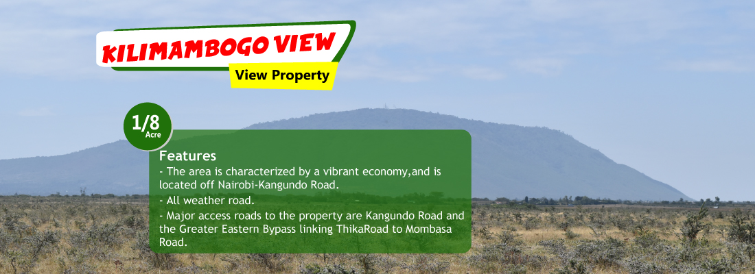 plots for sale kilimambogo