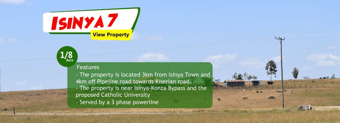 isinya plots for sale